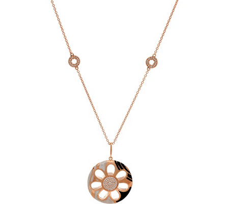 Lauren G Adams Rosetone Flower Necklace