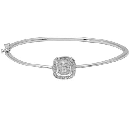 Diamond Bangle, Sterling, 1/4 cttw, by A ffinity