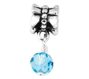 Prerogatives Sterling Blue Dangle Bead - J108550