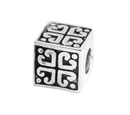Prerogatives Sterling Heart Cube Bead