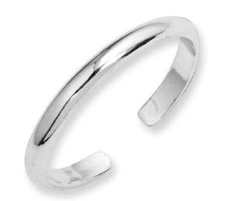 Sterling Solid Toe Ring