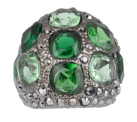 """As Is"" KJL Notorious Green Ring"