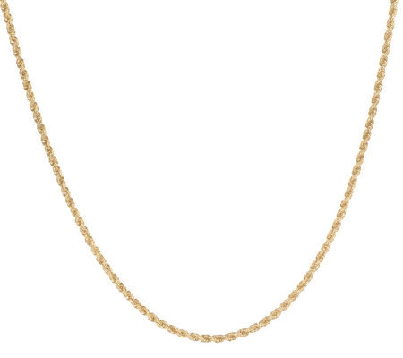 """As Is"" 18"" Dimensional Woven Rope Necklace 14K Gold, 2.5g"