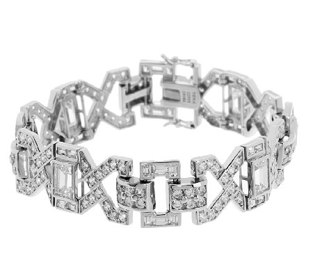 TOVA Diamonique Wedding Bracelet, Sterling