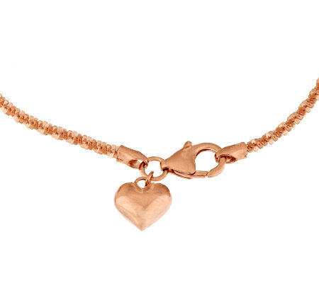 Bronze Margherita Chain Ankle Bracelet by Bronzo Italia