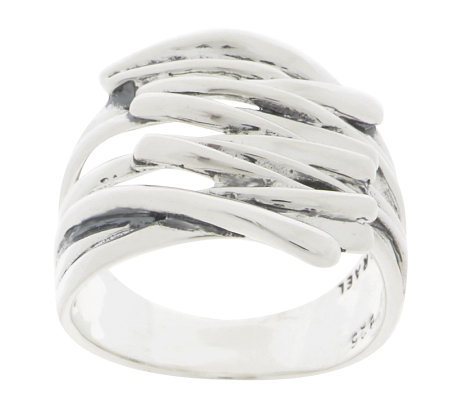 """As Is"" Hagit Gorali Sterling Wave Polished Overlapping Ring"