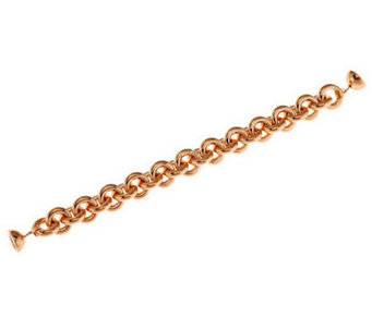 Oro Nuovo Average Rolo Link Bracelet with Magnet, 14K - J285550