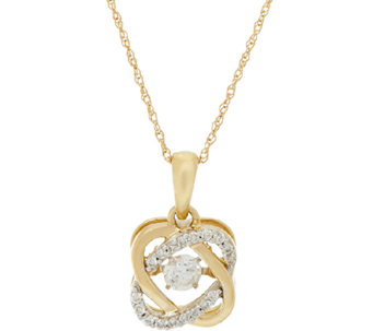 Halo Dancing Diamond Pendant w/ Chain, 14K, 1/4 cttw, by Affinity - J291450