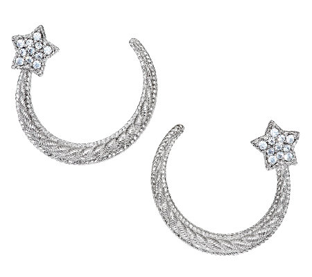 Judith Ripka Sterling & Diamonique Shooting Star Earrings
