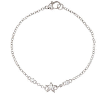 "Judith Ripka Sterling Diamonique Starfish 9"" Anklet - J296050"