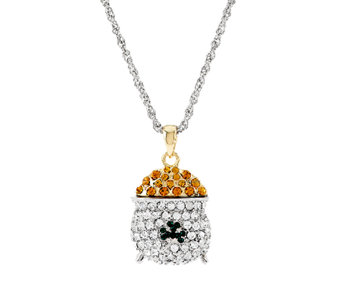 """As Is"" Killarney Crystal Pot of Gold Pendant - J296750"