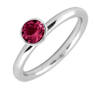Simply Stacks Sterling 5mm Round Created Ruby Solitaire Ring - J298750