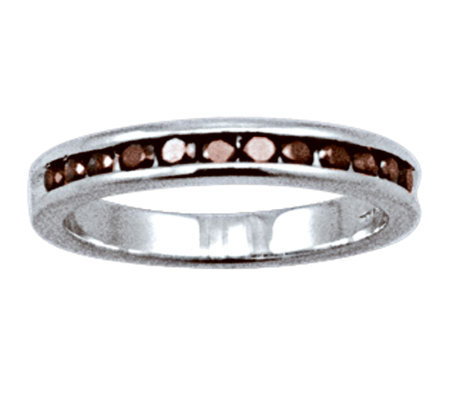 Red Diamond Band Ring, Sterling, 1/2 cttw, by Affinity
