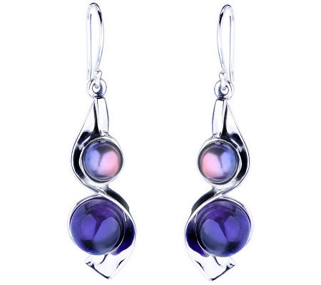Hagit Gorali Sterling Multi-Gemstone Drop Earrings