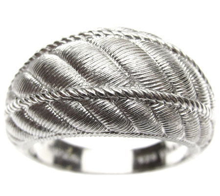 Judith Ripka Sterling Textured Domed Band Ring