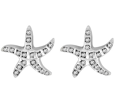 Diamond Fascination Sterling Starfish Stud Earrings