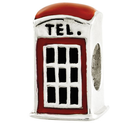 Prerogatives Sterling Telephone Booth Bead