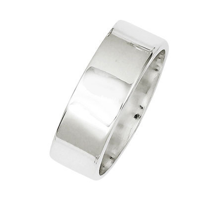 Sterling 7mm Polished Flat Ring