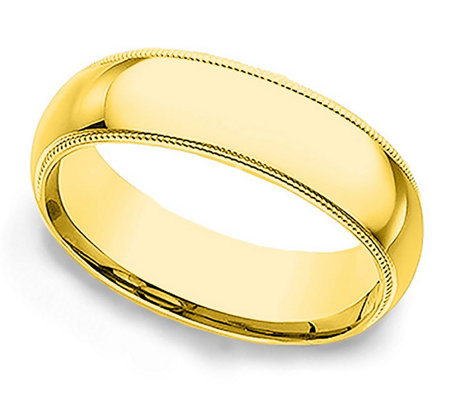 Sterling 5MM Unisex Milgrain Silk Fit Band R ing, 14K Clad