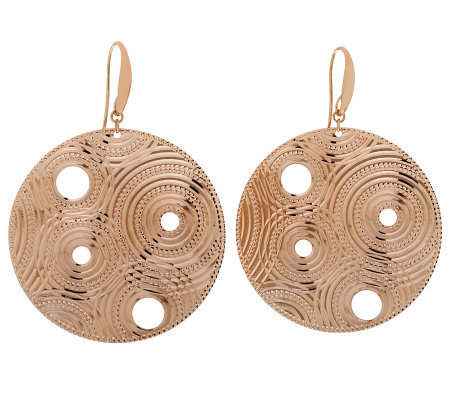 Bronzo Italia Diamond-Cut Round Dangle Earrings