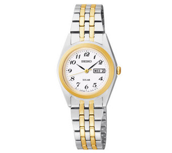 Seiko Women's Functional Solar Two-Tone Bracelet Watch - J315350