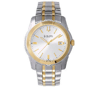 Bulova Men's Two-Tone Stainless Steel BraceletWatch - J316550