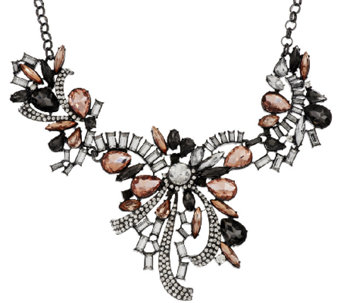 "Joan Rivers Crystal Ribbons 18"" Statement Necklace w/3"" Extender - J318650"