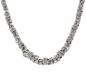 "Bronze 16"" Graduated Byzantine Necklace by Bronzo Italia - J323950"