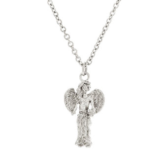 "Stainless Steel ""My Good Angel"" Pendant with 18"" Chain - J324250"