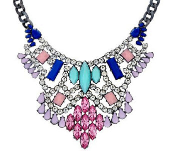 LOGO Links by Lori Goldstein Chandelier Bib Necklace with Extender - J324750