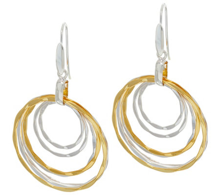 RLM Bronze Mulit-Color Hammered Wire Front Facing Earrings