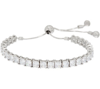 Diamonique Adjustable Bracelet, Sterling - J328950