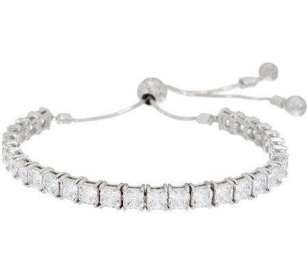 Diamonique Adjustable Bracelet, Sterling
