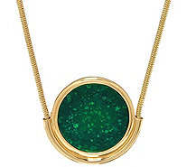 "H by Halston 36"" Round Pendant Necklace with Snake Chain - J330450"