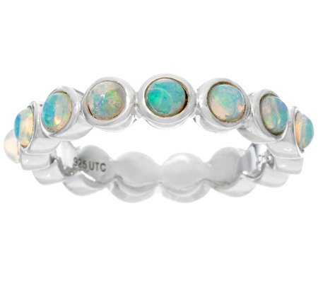 Jane Taylor Ethiopian Opal Sterling Silver Band Ring