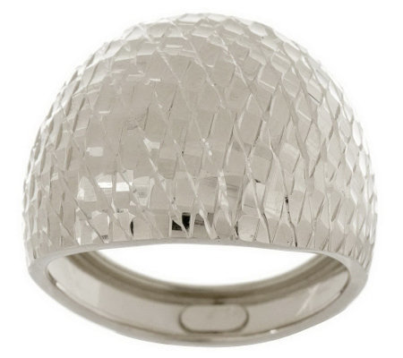 """As Is"" EternaGold Brilliant Pattern Domed Band Ring 14K"