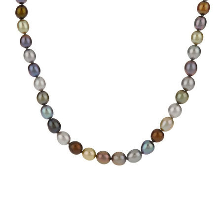 "Honora Cultured FreshwaterPearl Multi-color 18"" Necklace Sterling Clasp"