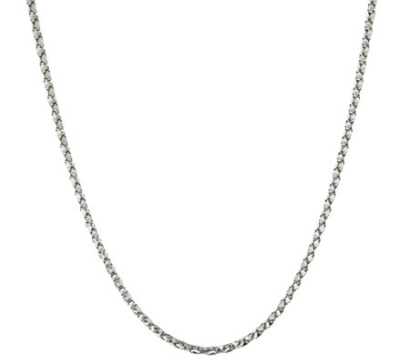 "Italian Silver 24"" Adjustable Coreana Necklace, Sterling 11.5g"