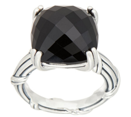 Peter Thomas Roth Sterling Silver Cushion Cut Gemstone Ring