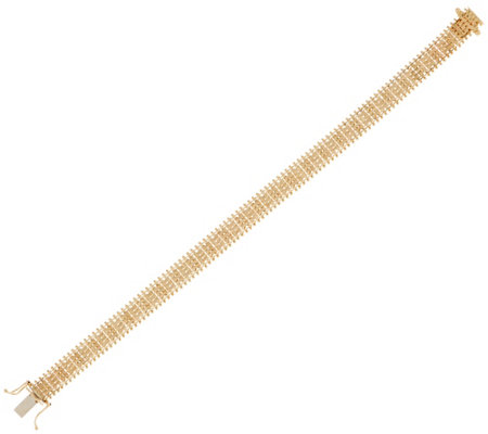 "Imperial Gold 6-3/4"" Satin Lame' Bracelet, 14K Gold, 13.1g"