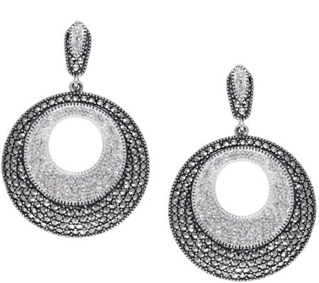 Suspicion Sterling Marcasite & Crystal Earrings