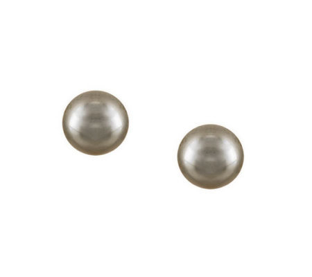 14K Polished 8.0mm Bead Stud Earrings, 14K Gold