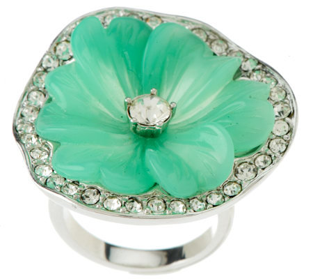 Kenneth Jay Lane's Zinnia Flower Ring