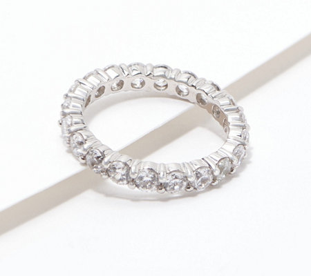 Diamonique 100-Facet Eternity Band Ring, 14K Clad or Sterling
