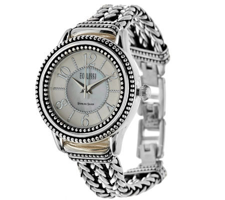 Ecclissi Sterling Multi-Strand Woven Bracelet Watch