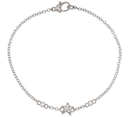 "Judith Ripka Sterling Diamonique Starfish 10"" Anklet"