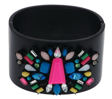 """As Is"" Multi- Shape Couture Crystal Bangle"