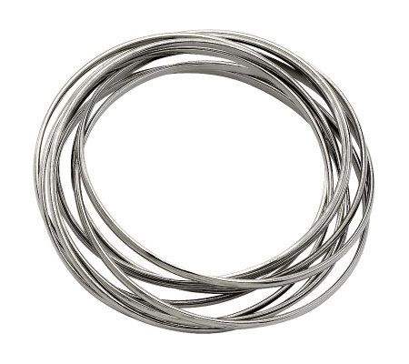 Stainless Steel Intertwined Bangle Bracelet