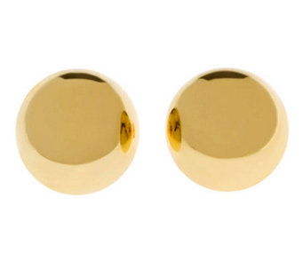 Veronese 18K Clad Polished 20mm Round Button Earrings - J302451