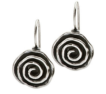 Or Paz Sterling Round Swirl Dangle Earrings - J305051